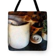 Crock And Basket Tote Bag by Susan Savad
