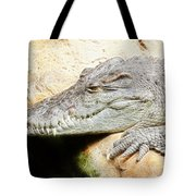 Crocodile Fractal Tote Bag