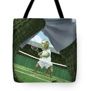 Crocodiles Playing Tennis At Wimbledon  Tote Bag