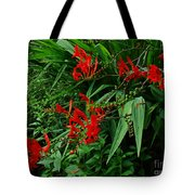 Crocosmia In Red Tote Bag