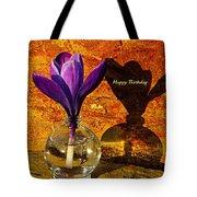 Crocus Floral Birthday Card Tote Bag