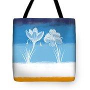 Crocus Flower Tote Bag