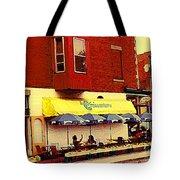 Croissanterie Figaro Parisian Bistro Sidewalk Cafe C Spandau Montreal Premier City Scene Artist Tote Bag