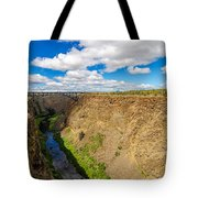 Crooked River Canyon And Bridge Tote Bag