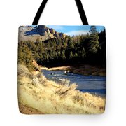 Crooked River December Morning Tote Bag