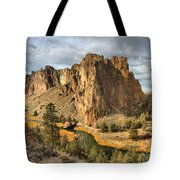 Crooked River Towers Tote Bag