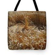 Crop Circle At Bishops Canning Tote Bag