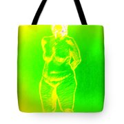 Croquis In Yellow And Green Tote Bag