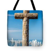 Cross And City Tote Bag