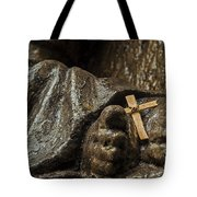 Cross And Feet Tote Bag