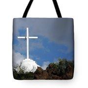 Cross At San Xavier - Tucson Tote Bag