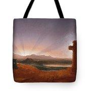 Cross At Sunset Tote Bag