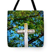 Cross At The Monastery Of The Holy Spirit Tote Bag