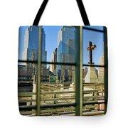 Cross At World Trade Towers Memorial Tote Bag