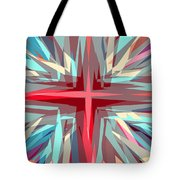 Cross Burst Tote Bag