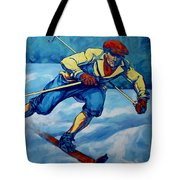 Cross Country Skier Tote Bag