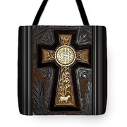Cross In Leather Tote Bag