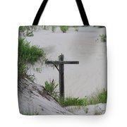 Cross In The Dunes Tote Bag