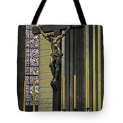 Cross Of Rouen Cathedral Tote Bag