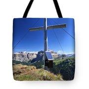 cross on Crepa Neigra peak Tote Bag