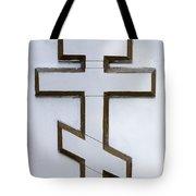 Cross On The Russian Orthodox Church In Bishkek Kyrgyzstan Tote Bag