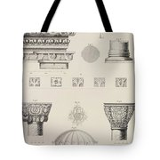 Cross Section And Architectural Details Of Kutciuk Aja Sophia The Church Of Sergius And Bacchus Tote Bag