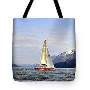 Cross Sound Sailboat Tote Bag
