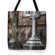 Cross Tombstone Tote Bag