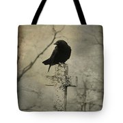 Crow On A Crooked Old Cross Tote Bag