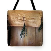 Crossbeam With Herbs Drying Tote Bag