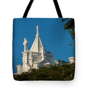 Crosses Above The Trees Tote Bag