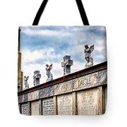 Crosses And Angels Tote Bag