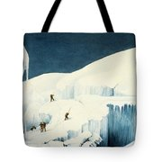 Crossing A Ravine, From A Narrative Tote Bag