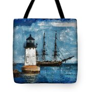 Crossing Into The Harbor Tote Bag