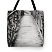 Crossing Over - Black And White Tote Bag