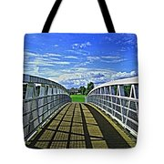 Crossing Over Bridge Tote Bag