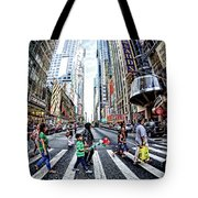 Crossing The City Street Tote Bag