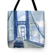 Crossing The Mackinac Tote Bag