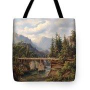 Crossing The River Bridge Tote Bag