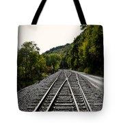 Crossing Tracks Tote Bag