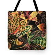 Croton Leaves Tote Bag