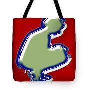 Crouching Figure Tote Bag