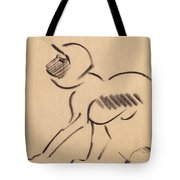 Crouching Monkey Tote Bag