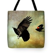 Crow And Red-winged Blackbird Tote Bag