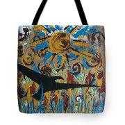 Crow Carrying Sun Medicine Tote Bag