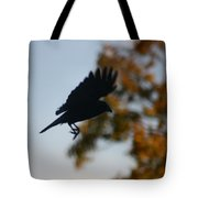 Crow In Flight 1 Tote Bag