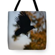 Crow In Flight 2 Tote Bag