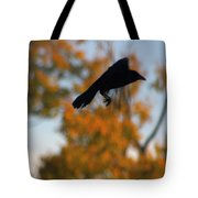 Crow In Flight 3 Tote Bag