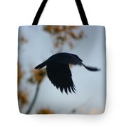 Crow In Flight 4 Tote Bag