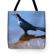 Crow In The Water Tote Bag